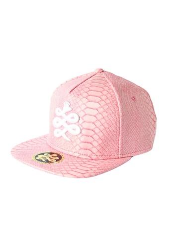 Chronomart pink Baem Korea Embossing Snap-back PU Material Baseball Cap CH783AC11VOIPH_1