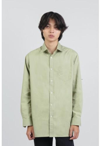 DUE/E green Reggie Shirt in Peas 9AD2CAA86DE8F6GS_1