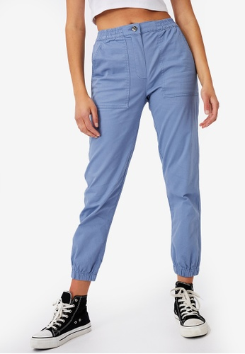 Cotton On blue Mid Rise Cuffed Chino Trousers EEA48AA51DD53EGS_1