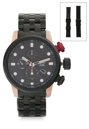 Alexandre Christie black Alexandre Christie Jam Tangan Pria - Black Rosegold - Stainless Steel - 6163 MCBBRBARE 8B110AC85C8347GS_1