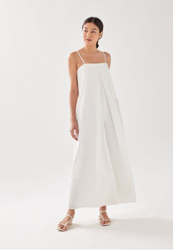 Love, Bonito white Zoey Wide Leg Jumpsuit 4F911AAC8669BEGS_1