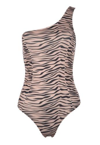 Trendyol multi Animal Print One Shoulder Swimsuit 87D66US0012CFAGS_1