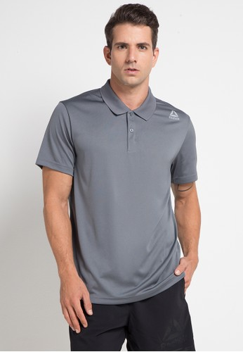 Reebok grey Solid Polo Shirt 9F01FAA2A48692GS_1