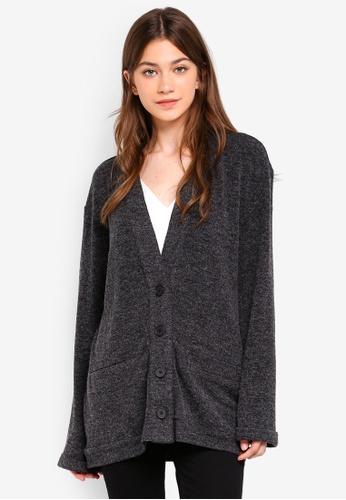 Something Borrowed grey Oversized Knit Cardigan 830ADAACB8C396GS_1