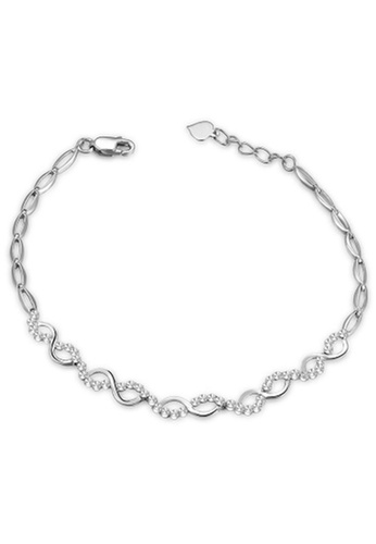 MaBelle silver 14K/585 White Gold Wave Shaped Bracelet 52213ACB87A37AGS_1
