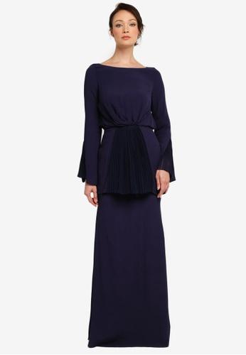NH by NURITA HARITH blue Kelly Kurung Modern D4200AA4029369GS_1