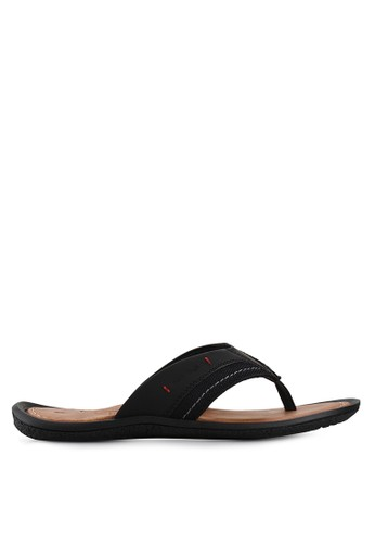Pakalolo Boots black Thong Sandal PA409SH21IVAID_1
