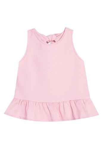 Mommy & Me by Great Kids pink Sleeveless Peplum Top 30D00KA30519BDGS_1