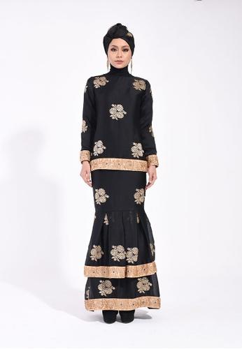 Deewani Modern Kurung In Midnight Black from Ann Khan Exclusive in Black