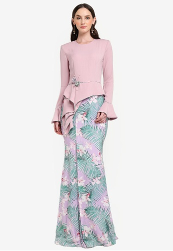 Jovian Mandagie for Zalora pink and purple Kealoha Modern Dress 8FD2FAAD8B9BD9GS_1