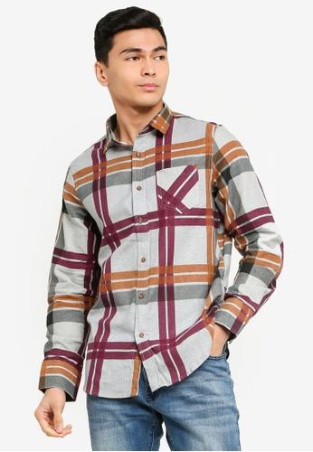 Brave Soul multi Long Sleeve Check Shirt 23653AA263D958GS_1