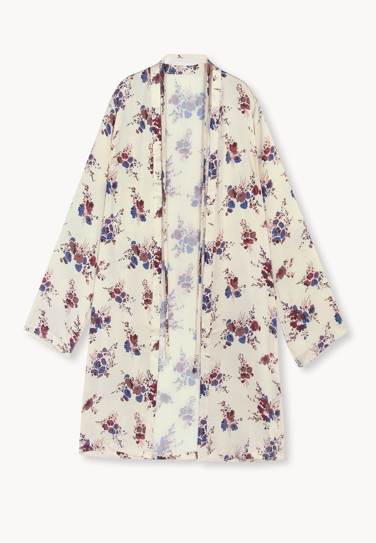 Orange Floral Kimono Floral Pomelo Kimono Aiko Aiko nqB5Bxw761