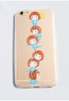 Girls and a Star Transparent Soft Case for iPhone 6 plus/ 6s plus