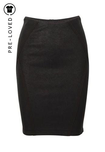 Donna Karan green Pre-Loved donna karan Khaki Pencil Skirt BA933AA41C84C0GS_1