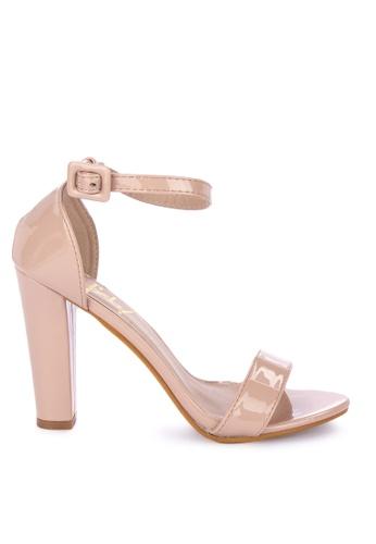 Sofab! beige Joshua Patent Ankle Strap Block Heels DE493SHD13D173GS_1