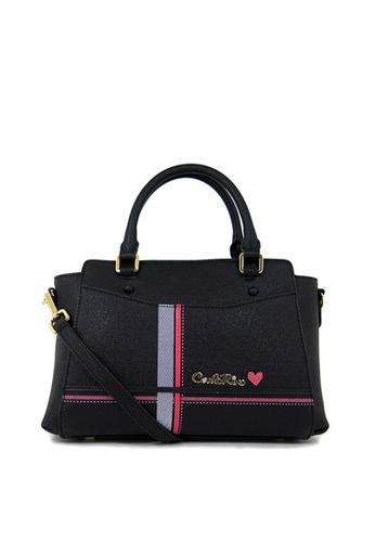Carlo Rino Black 0303826 003 08 Top Handle Bag