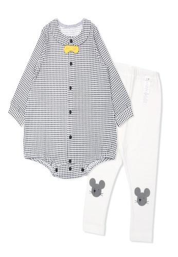 Organic mom grey Organic Cotton Michael Mouse Bodysuits Set EF059KA8066488GS_1