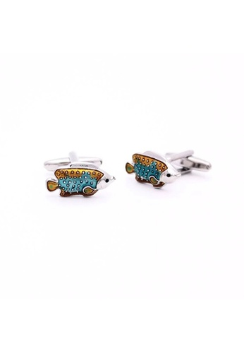 Red Stag And Hind blue Red Stag And Hind Aquatic Tropical Fish Cufflinks 42A47AC73AC8D2GS_1
