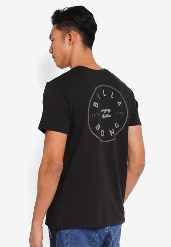 Billabong 黑色 休閒品牌印花T恤 0D6C8AA7ED2C3DGS_1