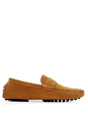 Twenty Eight Shoes 褐色 牛反絨皮駕駛鞋 VM2088 C2684SH5B249BDGS_1