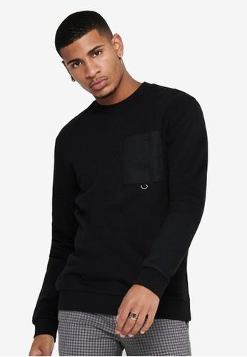 Only & Sons black Linus Crew Neck Sweatshirt C7522AABCFA4CDGS_1