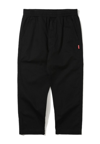 izzue black Army label patched pants FCA4CAA4C43EE2GS_1