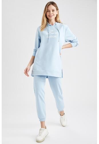 DeFacto blue Long Sleeve Sweatshirt Tunic 116A5AA4AB78EBGS_1