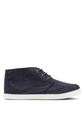 Burton Menswear London navy Navy Ashlee Chukka Shoes A76C8SH721445DGS_1