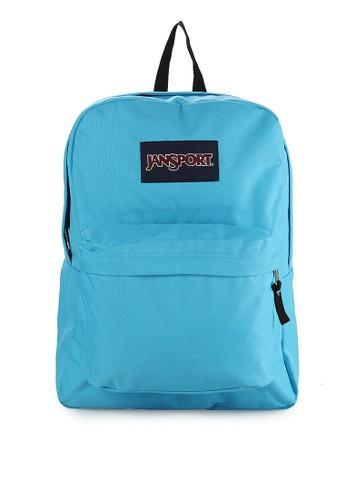 JanSport blue Superbreak Backpack JA042AC80ULRID_1