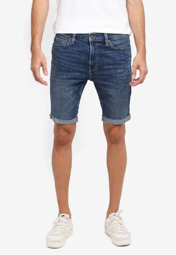 Hollister blue Denim Super Skinny Clean Shorts 349C8AA45C78EBGS_1