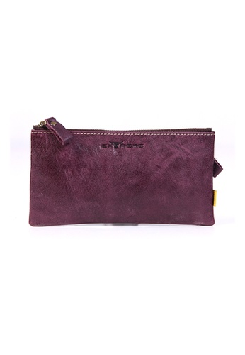 EXTREME purple Extreme Genuine Leather Phone Pouch F0660ACC14F507GS_1