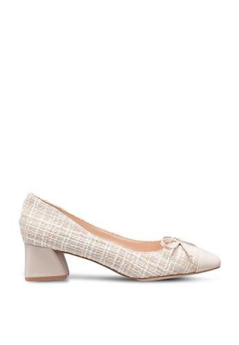 Kimmijim beige Steffie Square Toe Block Heels 00222SHD6A8B1AGS_1