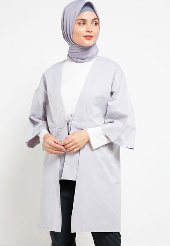 Allea by Itang Yunasz grey Larisa Outwear A29A4AA68C0902GS_1