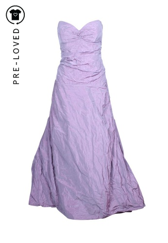 Nicole Miller orange Pre-Loved nicole miller Purple Strapless Gown 41075AABF82120GS_1
