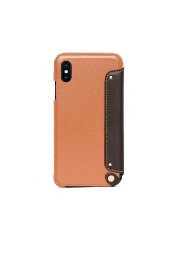 OBX brown Irish Layered iPhone Xs Max Leather Folio Case 0AC50ACBFD0834GS_1