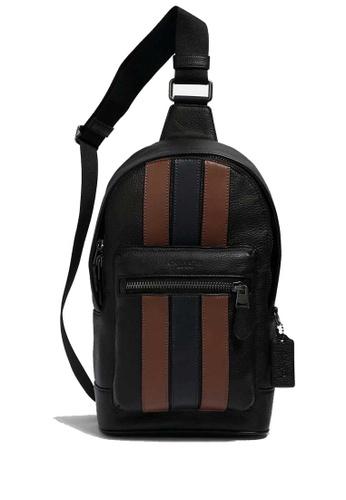 COACH black COACH West Pack With Varsity Stripe 2C387ACA5B0F91GS_1