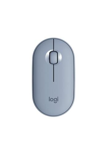 Logitech blue Logitech M350 Pebble Bluetooth Mouse (Blue Grey) FE410ES00649BEGS_1