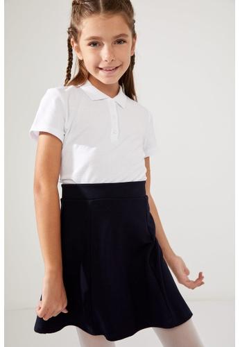 DeFacto white Short Sleeve Cotton Polo T-Shirt E6310KAC380B14GS_1