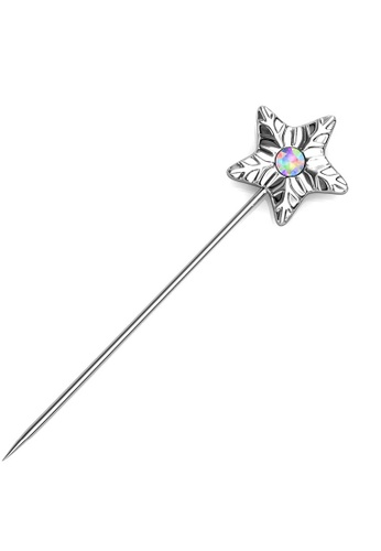 Her Jewellery silver Star Petal Brooch (April) - Made with Premium grade crystals from Austria B2577AC3AFDAB4GS_1