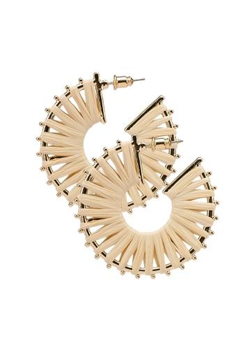 ALDO beige Jegricka Pierced Earrings 4443DACFE83DDDGS_1