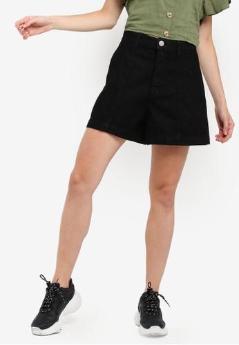 Cotton On black High Rise A Line Shorts 59B75AA8A6A4E1GS_1