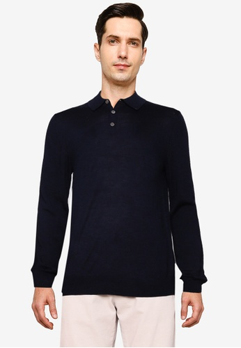Banana Republic navy Slim Performance Standard Lux Touch Polo Shirt EDCABAABF48E61GS_1