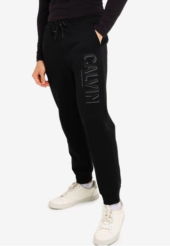 CALVIN KLEIN black Logo Sweatpants - CK Jeans 9A771AAFF6104DGS_1