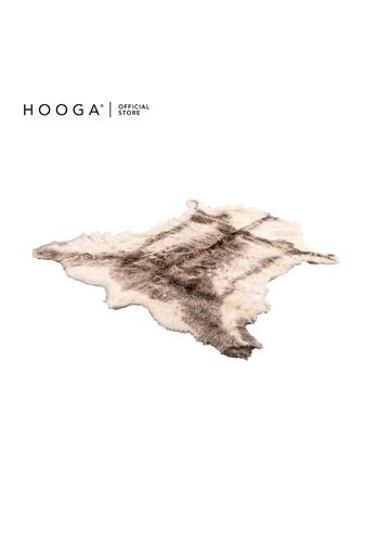 HOOGA brown and beige Hooga Rug Brirlle Faux Sheep Fur F4E3FHLFC29CCDGS_1