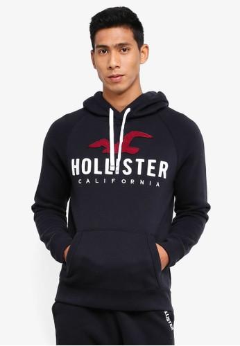 Hollister black Iconic Tech Logo Hoodie F9D8BAAB128A9FGS_1