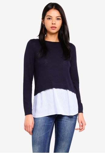 ONLY navy New Oxford Pullover 39538AA0F23C1AGS_1