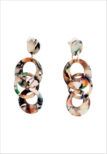My Flash Trash multi Chanel multi marble drop earring 877EBACECF224AGS_1