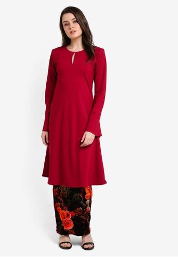 Zuco Fashion red Riau Cut Mini Kurung ZU882AA0RIKIMY_1