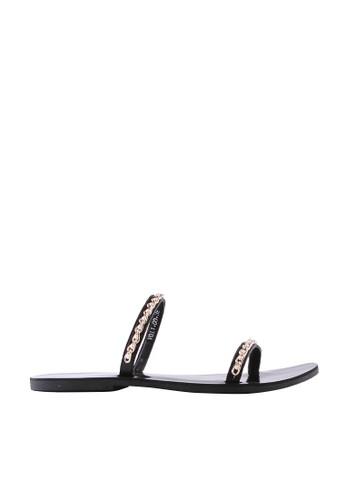 MINKA black Vala Gold Chain Sandal 79254SH6EF94C6GS_1
