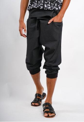 Gingersnap Bali black Men Cotton Baggy Nasa Long Pant 1399DAAB21EE15GS_1